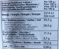 Oganic Belgian Chocolate- Belgian thins - Nutrition facts - fr