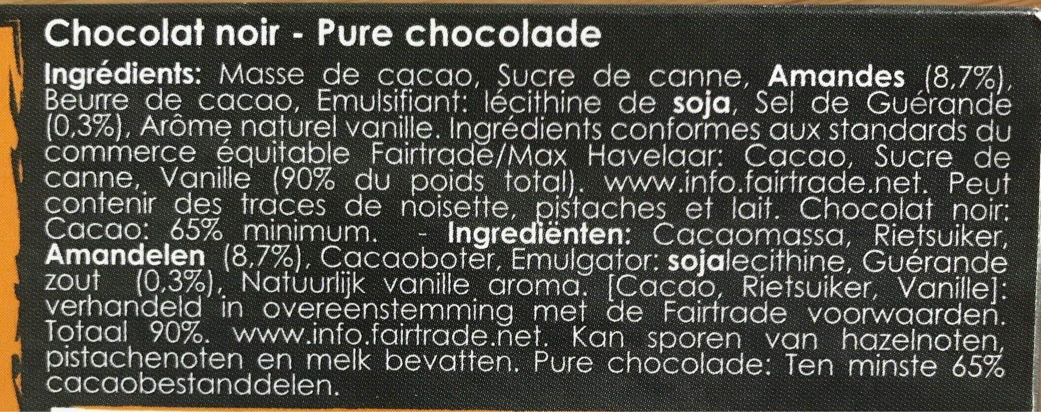 Chocolat noir amandes - Ingrediënten - fr