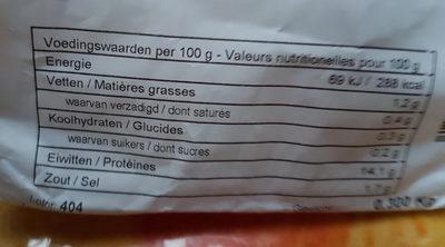 potjeslees - Voedingswaarden - fr