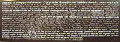 Chocolat Orange amère NewTree - Ingredientes