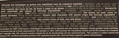 Quinoa Chocolat noir 72% - Ingrédients - fr