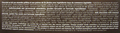 Chocolat Amandes NewTree - Ingrédients - fr