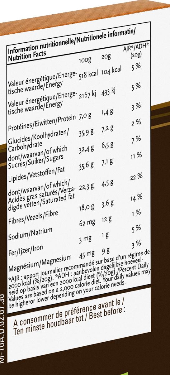 Cannelle - Voedingswaarden
