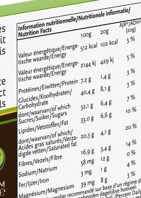 Citron Vert - Informations nutritionnelles