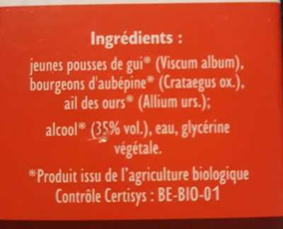Cordiagem GC40 BIO - Ingrédients - fr