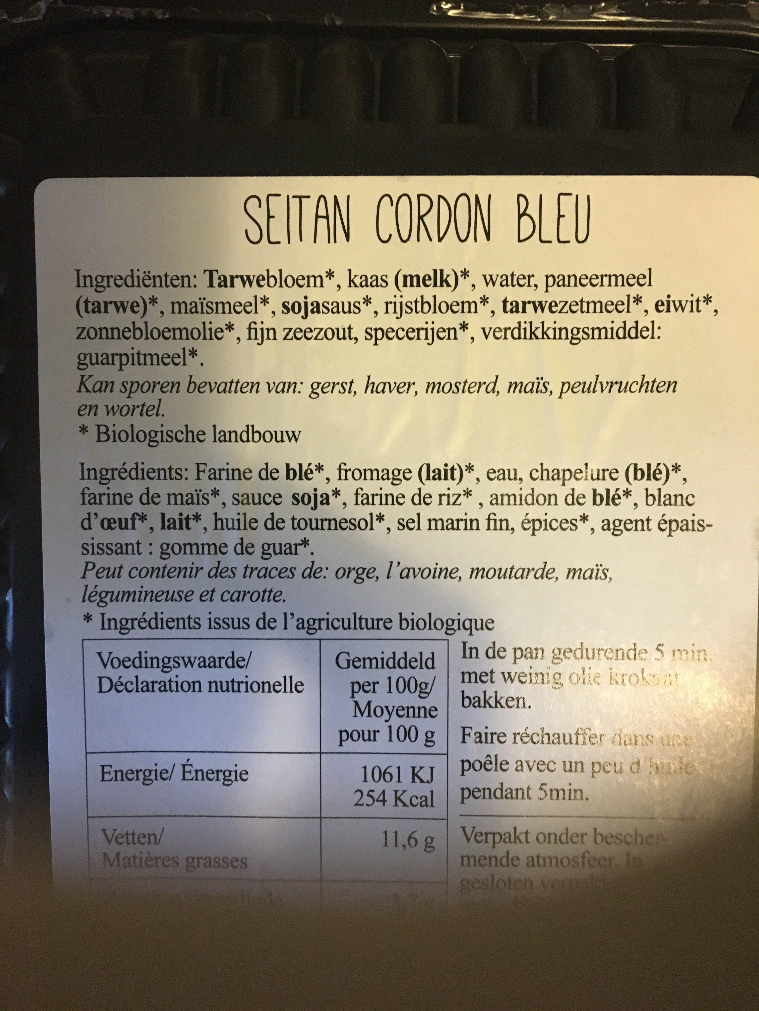 SEITAN CORDON BLEU - Ingredients - fr
