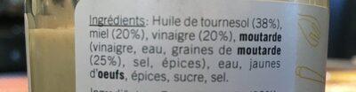 Vinaigrette Au Miel - Ingrediënten - fr