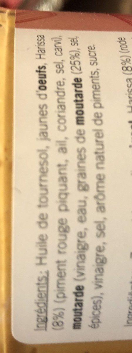 Natura Mayonnaise Pikant, 160 g - Ingrédients - fr