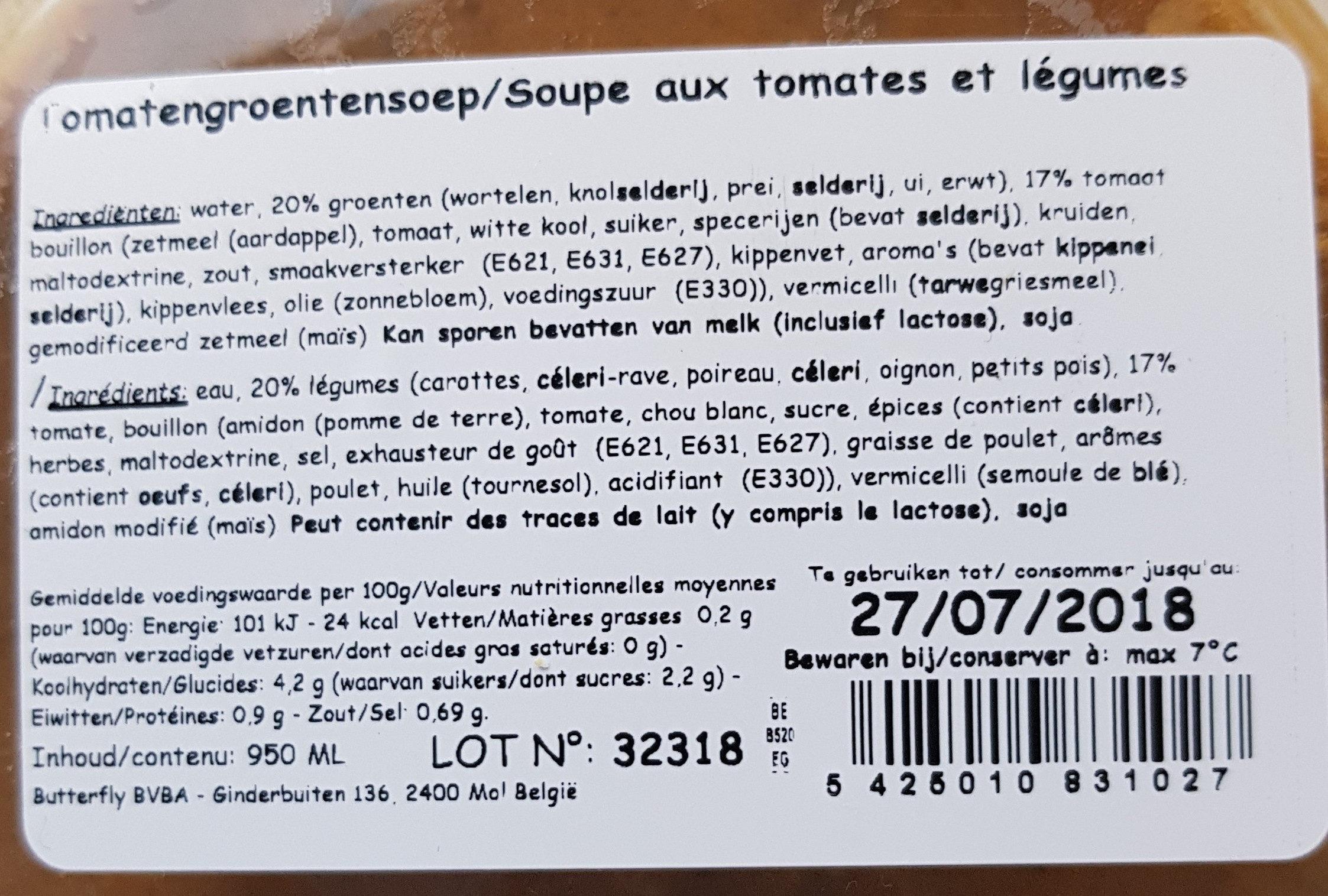 tomatengroentensoep - Ingrediënten