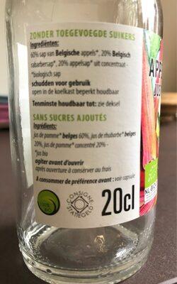 Jus de pomme rhubarbe - Ingrédients - fr