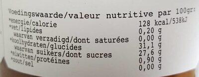 abrikoos rabarber - Voedingswaarden