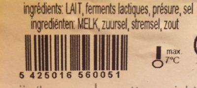 Gouda Jeune sans croute - Ingredients - en