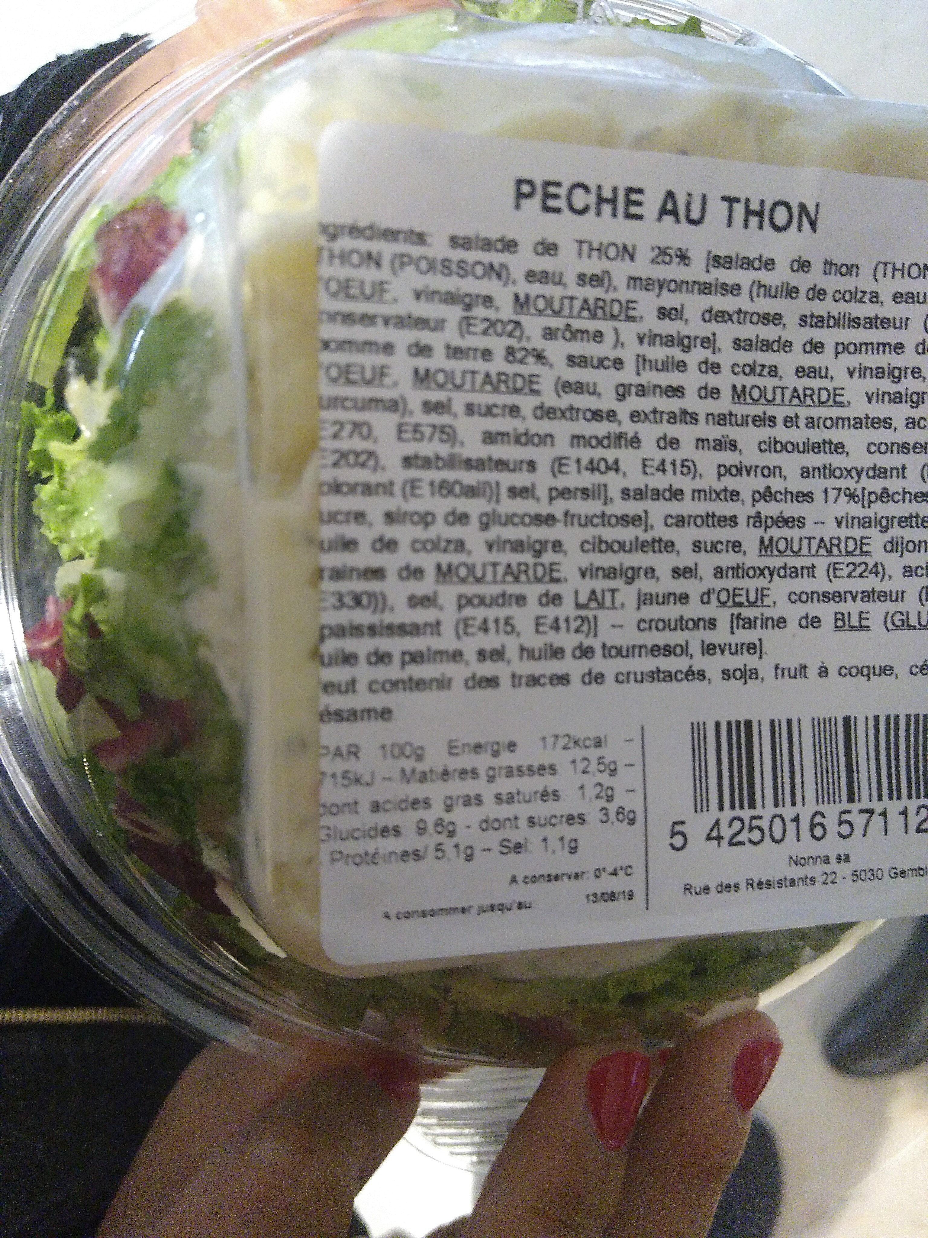 Pêche au Thon - Informations nutritionnelles