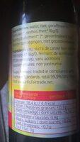Kombucha Rooibos - Informations nutritionnelles - fr