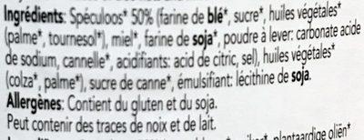 Speculos spread - Ingrediënten - fr