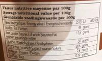 Pâte à Tartiner Belge au Spéculoos - Voedingswaarden