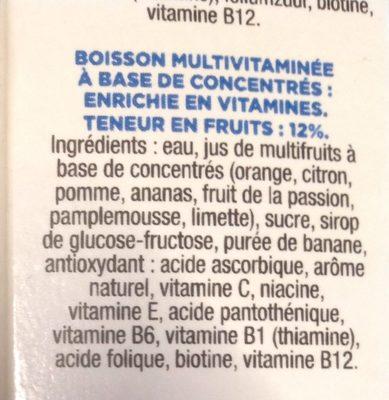 Boisson multifruits - Ingrédients