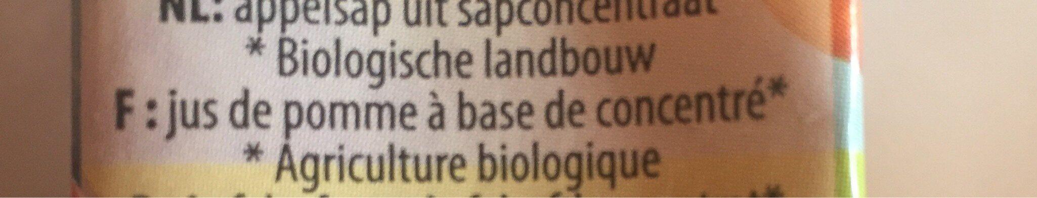 Jus De Pomme Bio - Ingrediënten - fr