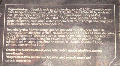 Muhammara - Ingrediënten - nl