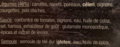 Couscous aux légumes frais - Ingrediënten