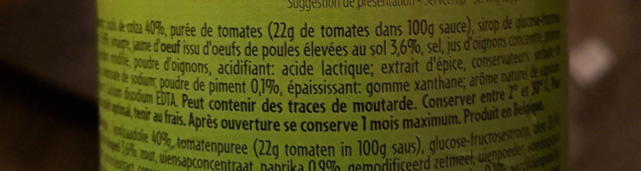 Sauce algérienne - Ingrediënten - fr