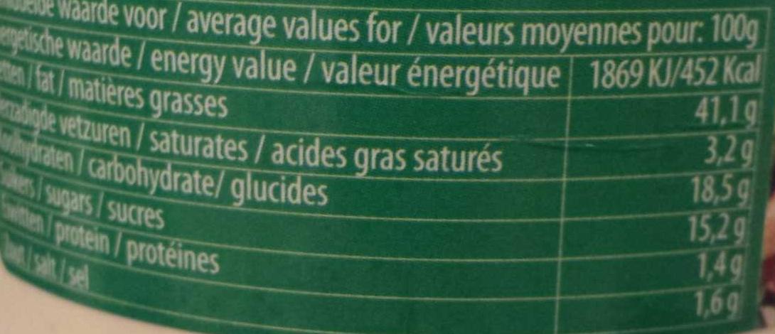 Sauce algérienne - Voedingswaarden - fr