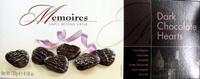 Memoires dark chocolate hearts - Product - en