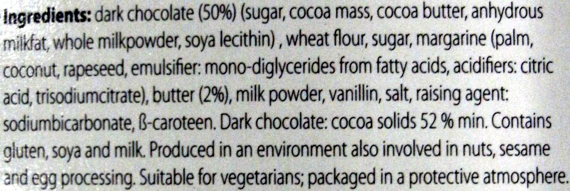 Memoires dark chocolate hearts - Ingredients - en