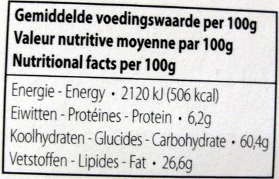 Memoires dark chocolate hearts - Nutrition facts - en