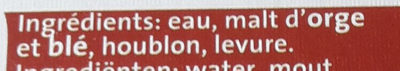 Caulier Tripel 33 CL Fles - Ingredients - fr