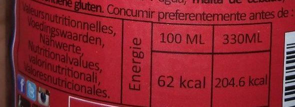 La triple 10° - Voedingswaarden