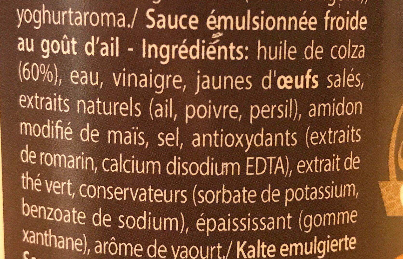 Sauce pita - Ingrédients - fr