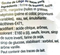 Doly Gaufre premium - Ingrédients