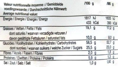 Doly Gaufre premium - Informations nutritionnelles