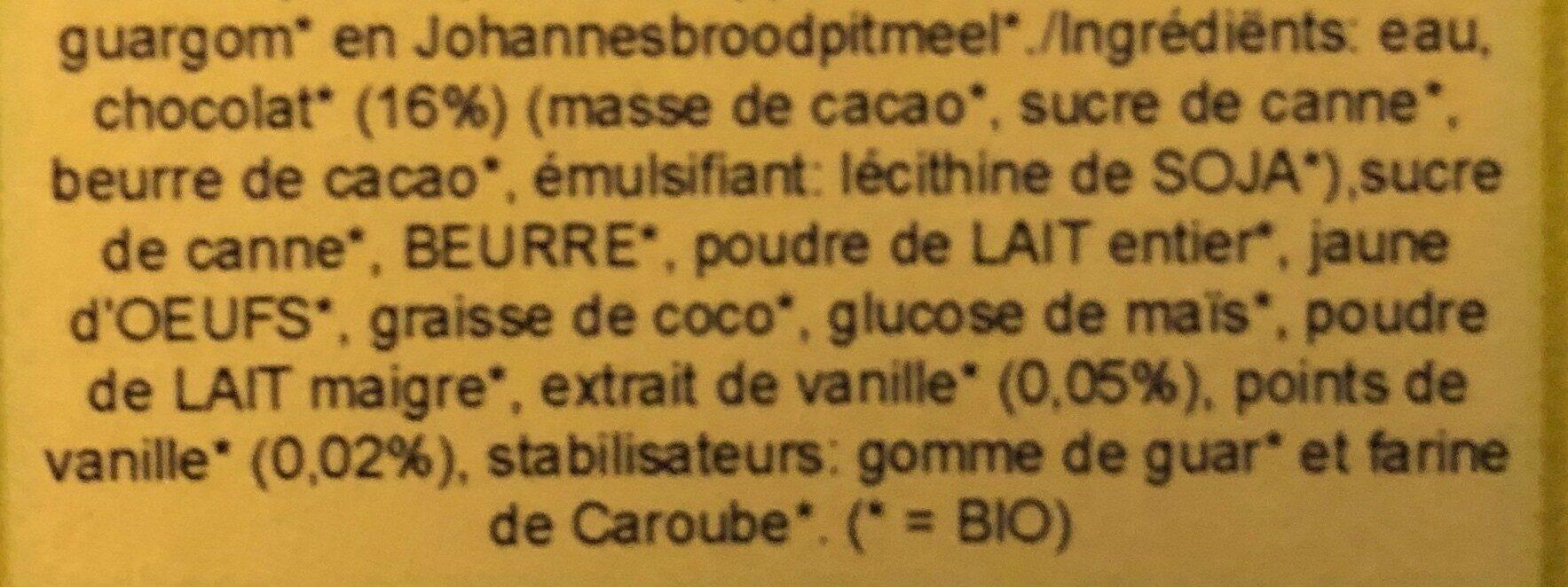 Bio pralines glacees - Ingrediënten