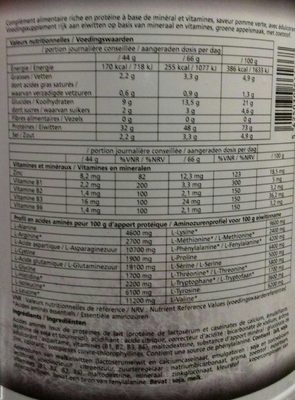 Muscle optizone - Nutrition facts