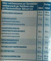 Boisson d'avoine bio - Voedigswaarden
