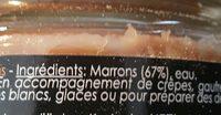 Purée  de marron - Ingrédients - fr