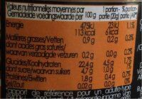 Purée  de marron - Informations nutritionnelles - fr