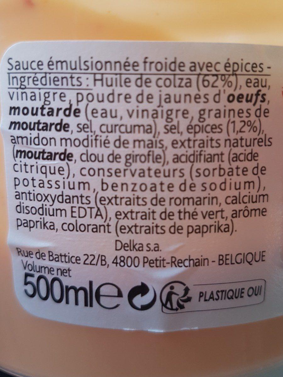 Sauce samouraï - Ingrédients - fr
