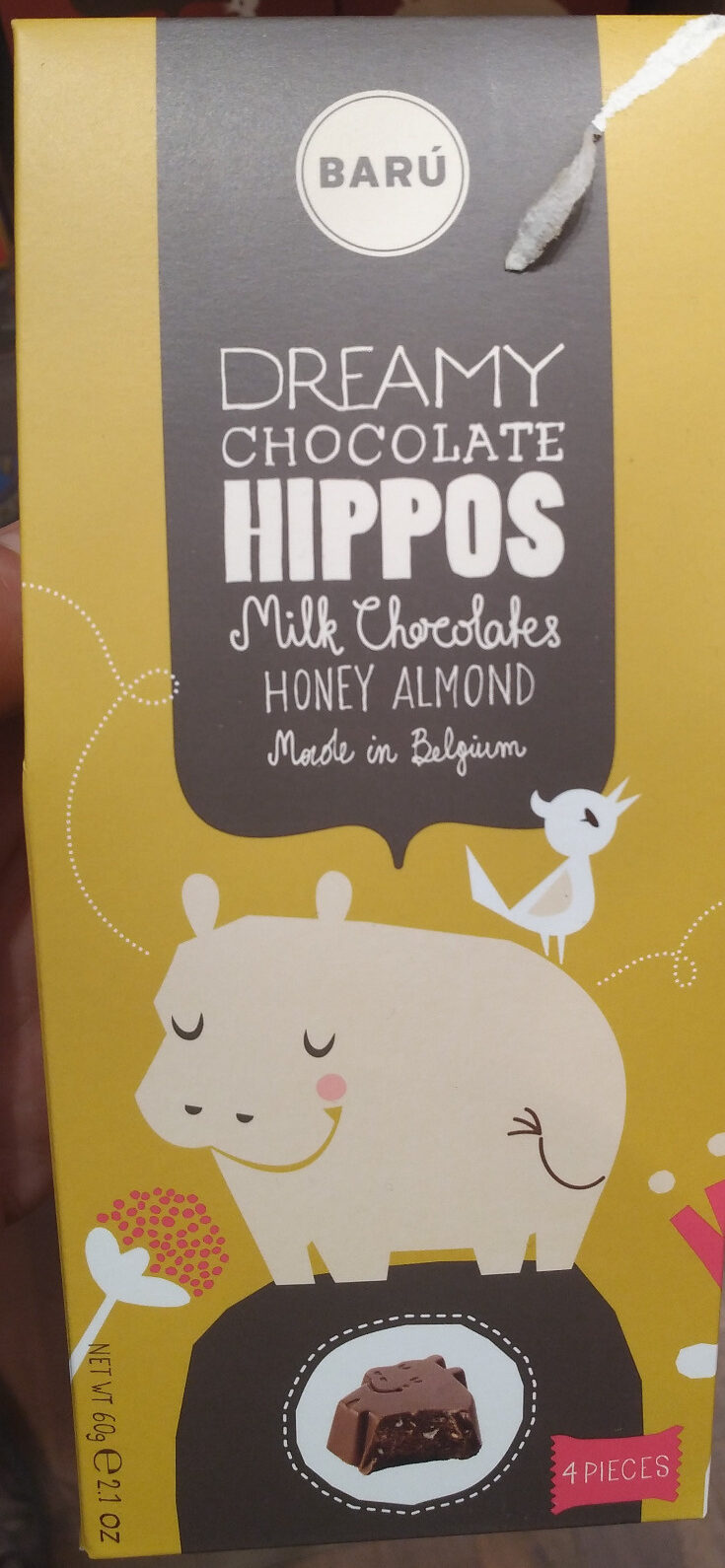 Hippos - Milk Chocolates Honey Almond - Product - nl