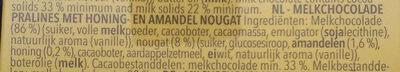 Hippos - Milk Chocolates Honey Almond - Ingrediënten - nl