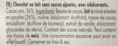 Belgian milk chocolate - Ingrediënten