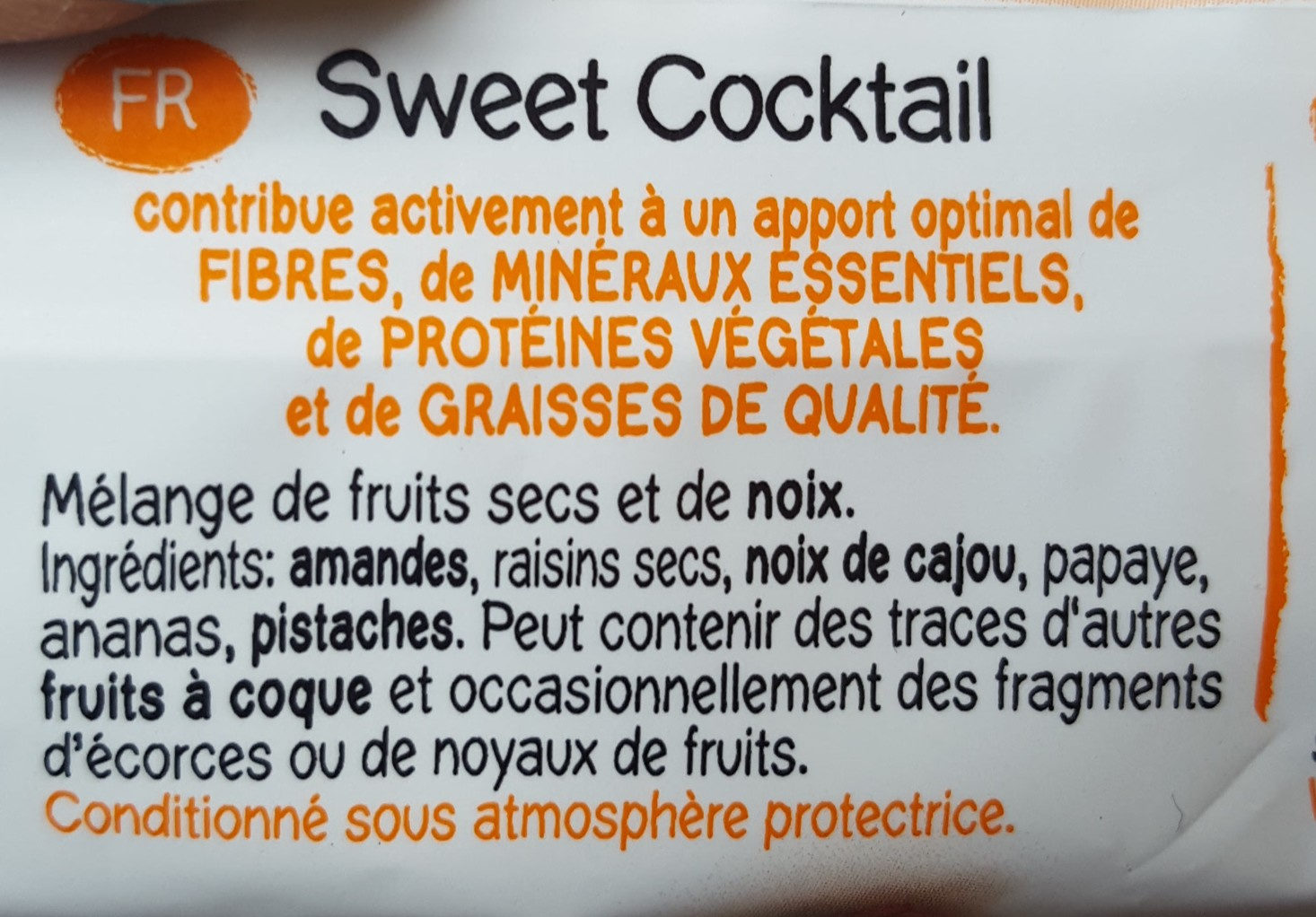 Cocktail 50GR - MANI - Ingrédients