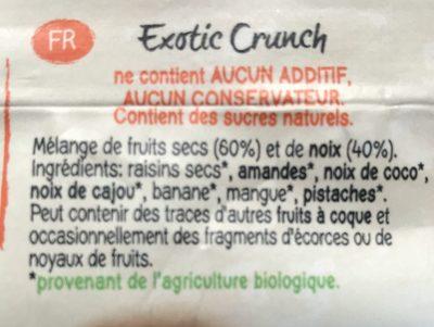 Exotic Crunch 45GR Bio - MANI - Ingrediënten