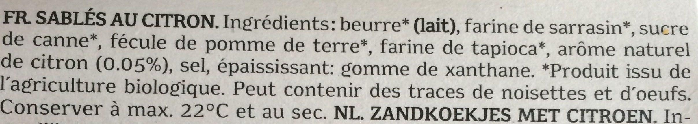Céline Citron - Ingrédients - fr