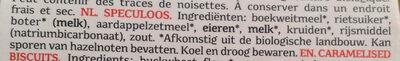 Sylvain Speculoos - Ingrediënten - nl