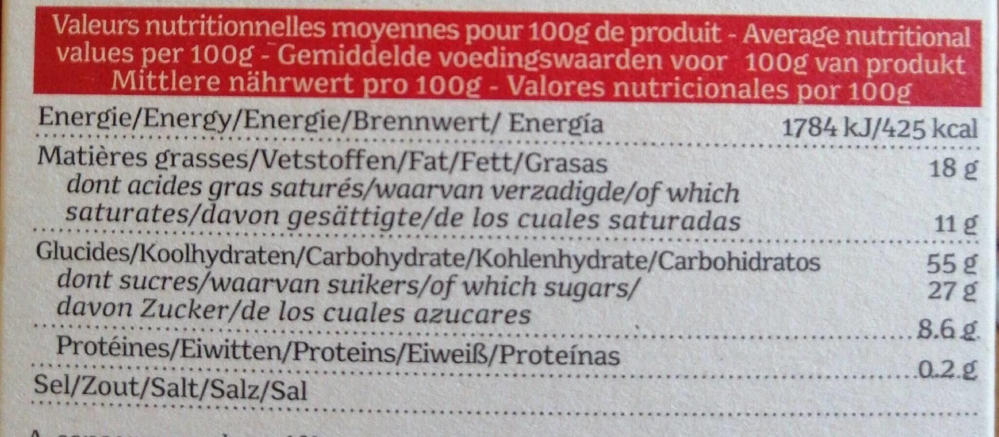 Biscuits au speculos, sans gluten - Nutrition facts