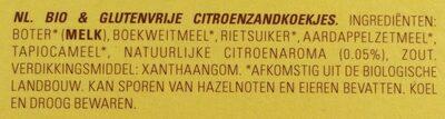 Sablés au citron - Ingrediënten - nl