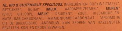 Speculos traditionnel - Ingrediënten - nl